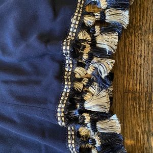 Dresses & Skirts - Reformation navy shift dress with tassels